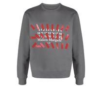 Sweatshirt mit Nummern-Print