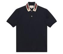 Poloshirt mit verziertem Kragen