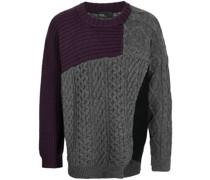 colour-block wool jumper