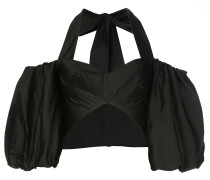 Satin-Top mit Cut-Out