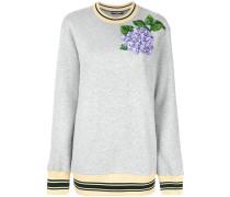 Sweatshirt mit Blumen-Stickerei