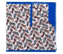 Schal mit Motorrad-Print