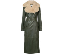 shearling collar coat - Unavailable
