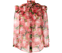 Chiffonbluse mit floralem Print