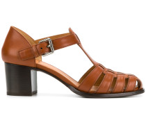 T-bar caged sandals