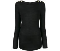 Pullover mit geknöpften Schultern