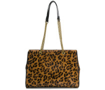 Mittelgroßer Shopper mit Leoparden-Print