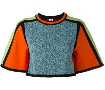 Cropped-Pullover in Colour-Block-Optik - women