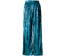 sequin palazzo trousers