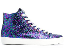 High-Top-Sneakers mit Glitter