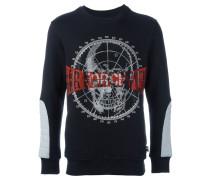 Sweatshirt mit TotenkopfApplikation