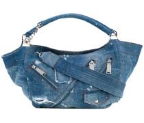 distressed denim hobo bag - women - Baumwolle