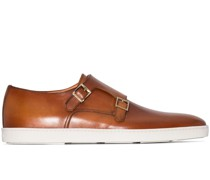 Monk-Schuhe mit Kontrastsohle