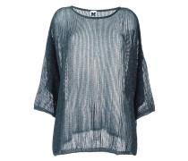 Semi-transparenter Metallic-Pullover