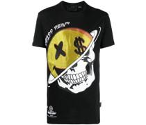 T-Shirt mit verziertem Totenkopf-Print
