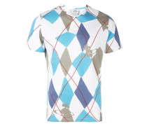 T-Shirt mit Harlekin-Print