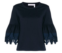 lace trim bell sleeve T-shirt