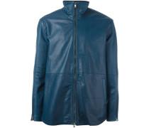 zipped leather jacket