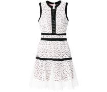 open embroidery mini dress