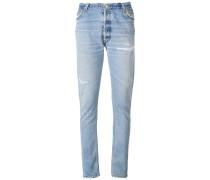 Skinny-Jeans mit geradem Bein