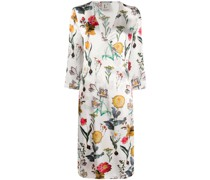 Wickelkleid mit Garten-Print