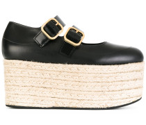 - Flatform-Schuhe mit Bastsohle - women