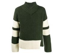 contrast-panel sweater