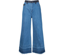 'Domino Gem' Cropped-Jeans
