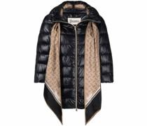 scarf-trim puffer jacket