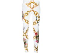 chain print skinny trousers