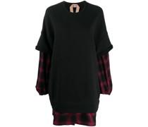Sweatshirtkleid im Layering-Look