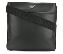 logo strap messenger bag
