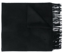 wool-cashmere blend fringed scarf