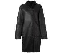 Mantel mit asymmetrischem Reißverschluss