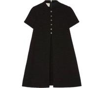Tweed-Kleid mit Knopfleiste