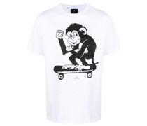 T-Shirt mit Affen-Print