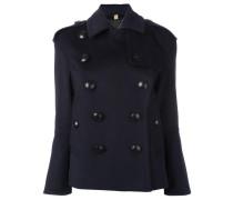 oversized buttons short coat