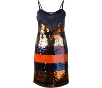 Gestreiftes Kleid mit Pailletten
