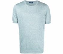 Meliertes T-Shirt aus Feinstrick