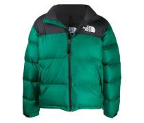 padded logo embroidered jacket