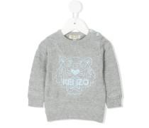 tiger embroidered jumper