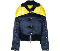 two tone puffer jacket