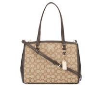 signature jacquard shoulder bag