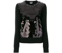 sequin panel sweatshirt