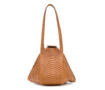 Handtasche mit Kroko-Effekt