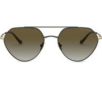 Pilotenbrille mit geometrischem Gestell