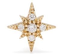 14kt Gelbgoldohrstecker mit einem Diamanten