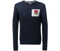 rose patch sweatshirt