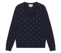 Jacquard-Pullover mit Punkten