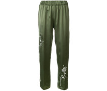 contrast piped trim pants